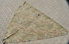 WWII Germany German Original War Damaged Combat HUGE Camo Tent Poncho Cover Coat