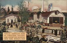 1939 NY Worlkd's Fair American Farm Firestone Bldg Postcard