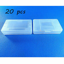20 x Clear White Nintendo Game Cartridge Case for Game Boy GBA SP  #02J