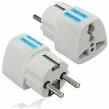 New Portable UK US AU to EU European Power Socket Plug Adapter Travel Converter