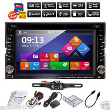 Car GPS Navigation Radio 2DIN Car Stereo DVD Player Bluetooth iPod MP3 + Camera