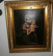 dipinto olio su tela con cornice in legno dorato