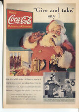 POST CARD WITH AN ADVERTISEMENT FROM A MAGAZINE COCA COLA  WITH SANTA