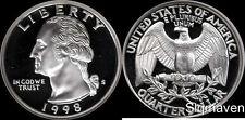 1998 S 90% Silver Washington Quarter Deep Cameo Gem Proof No Reserve