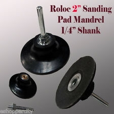 "2"" Roll Lock Roloc Type Sanding Polishing Disc Mandrel Arbor Holder Type R"