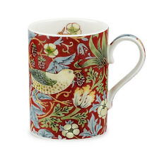 Royal Worcester William Morris & Co Strawberry Thief China Mug Crimson Red Boxed