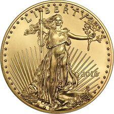 2016 Gold American Eagle (GAE) 1/2oz (Half Ounce) $25 BU