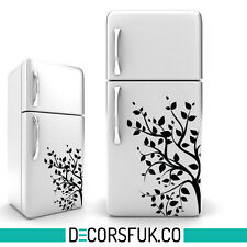 Tree fridge sticker black - art decor/ self adhesive sticers / kitchen sticker