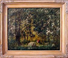 19th Century Oil Painting by Herman Niemeier The Lush Forest