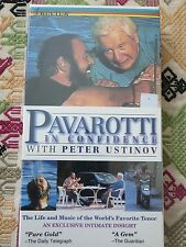 Pavarotti in Confidence with Peter Ustinov [VHS] Luciano Italy Opera Documentary