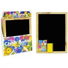 A4 CHALKBOARD Children Fun Kids Black Chalk Board Dry Wipe Blackboard Eraser Set
