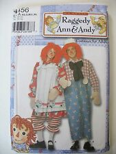 Raggedy Ann & Andy Costume Adult XS-XL Simplicity Pattern 4456 UNCUT