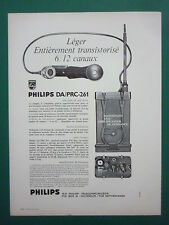 11/1965 PUB PHILIPS TELECOMMUNICATIONS POSTE RADIO PORTATIF DA/PRC-261 FRENCH AD