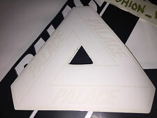 PALACE SKATEBOARDS WHITE TRI FERG VINYL STICKER SS15 SS16 FLAG TRIANGLE