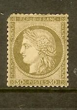 """FRANCE STAMP TIMBRE N° 56 """" CERES 30c BRUN 1872 """" NEUF x A VOIR"""