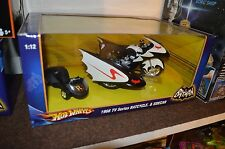 BATCYCLE - Batman & Robin - Hot Wheels 1:12 Scale 1966 TV SERIES Diecast .