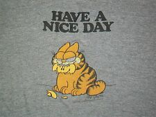 rare vintage 70s GARFIELD CAT NICE DAY t shirt Small Medium soft thin retro cool