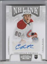 2013-14 PANINI CONTENDERS #I-CT CHRISTIAN THOMAS AUTOGRAPH MONTREAL CANADIANS