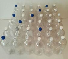 36 Empty 2 Liter Clear Bottles with Caps Art Crafting Supplies or Garden Use