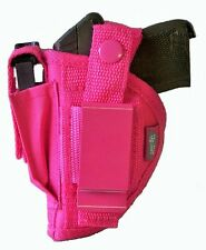 Pink Nylon Hip Gun Holster For Ruger LCP 380