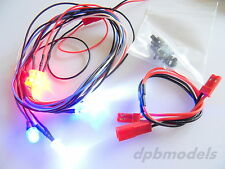 RC Auto Camion 6 LED Luce KIT RED-WHITE-BLUE 4.8v-9v 1/10 Scala