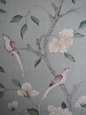 "ZOFFANY CURTAIN FABRIC DESIGN ""Eleonora"" 2.8 METRES STOCKHOLM BLUE 100% RAW SILK"