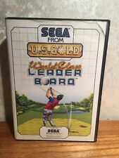 Sega Master System Game - World Class Leader Board - Pal SMS Golf