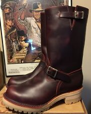 WESCO RJL LTD Custom Engineer  Boots Cordovan domain Tan Vibram Double Midsole