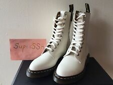 New Dr. Martens Women's Alix Pointy Toed 10 eye Zip White Leather Boots US7 UK5