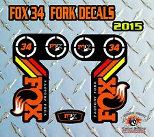 FOX 34 2015 FORK Adesivi Decalcomanie Grafiche MOUNTAIN BIKE DOWN HILL MTB