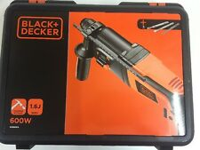 Black + Decker 600W 1.6j Hammer Drill with Kitbox/ Accessories Brand-New