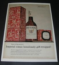 Print Ad 1955 DISTILLERY Hiram Walker Imperial Whiskey luxuriously gift-wrapped
