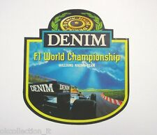 VECCHIO ADESIVO AUTO F1 / Old Sticker DENIM F1 WILLIAMS RACING TEAM (cm 12 x 13)