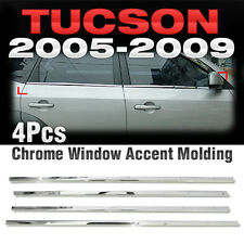 Chrome Window Accent Garnish Molding 4P Set A868 For HYUNDAI 2005-2009 Tucson