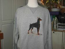 New Full Body Doberman Pinscher Embroidered Sweatshirt Add Name For Free