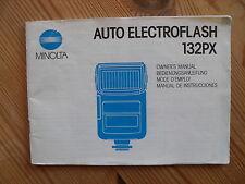 MINOLTA Auto Electroflash 132 PX Bedienungsanleitung BDA Anleitung, deutsch