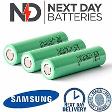 3 x GENUINE SAMSUNG 25R INR 18650 HIGH DRAIN 3.7v 2500mAh 20 35A Li BATTERY VAPE