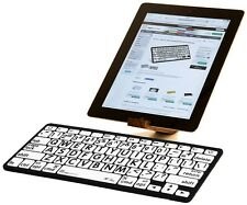 LogicKeyboard Large Print Black on White Mini Keyboard for iPad-LKB-LPBW-BTON