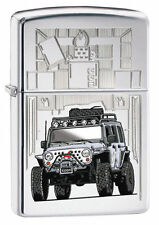 Zippo 28508, Zippo Jeep, High Polish Chrome Finish Lighter, Full Size