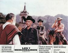 YUL BRYNNER STEVE McQUEEN THE MAGNIFICENT SEVEN  1960 VINTAGE LOBBY CARD #4