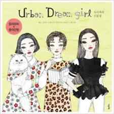 Urban Dream Girl Coloring Book For Adult Paper Doll Gift DIY Fun Relax Art Craft