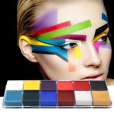 Professional 1 Set 12 Colors Flash Tattoo Face Body Paint Oil Painting Art SY