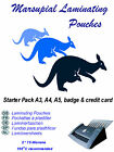 Laminating pouches A3 A4 A5 A6 ID & carrier starter pack from Marsupial