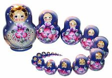 "20- PC RUSSIAN NESTING DOLLS 5,6""MATRESHKA  #569"