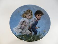 "Bradex 1986 Decorative Plate ""Jack & Jill"" 8th issue in Mother Goose Series."