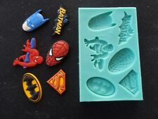 Silicone Mould SUPER HEROES Sugarcraft Cake Decorating Fondant / fimo mold