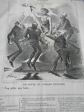 Litho 1867 - Une figure du Cotillon Littéraire Trops petis mes bons...