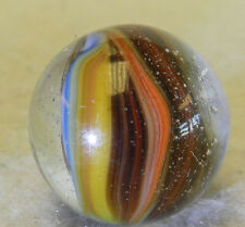 #5538m Large .71 Inches Vintage Akro Agate Sparkler Marble *Mint*