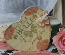 "~ ""Paris Belle Heart"" ~ Shabby Chic ~ Country Cottage style ~ Wall Decor Sign ~"