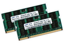 2x 2gb Samsung 4gb ddr2 667 Mhz per Notebook MEMORIA RAM così DIMM pc2-5300s